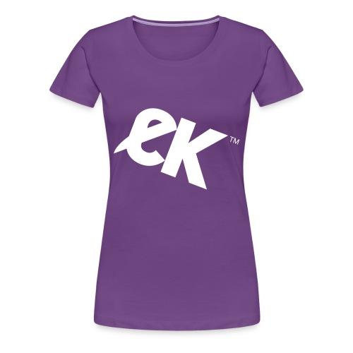 EK logo wit #1 - Vrouwen Premium T-shirt