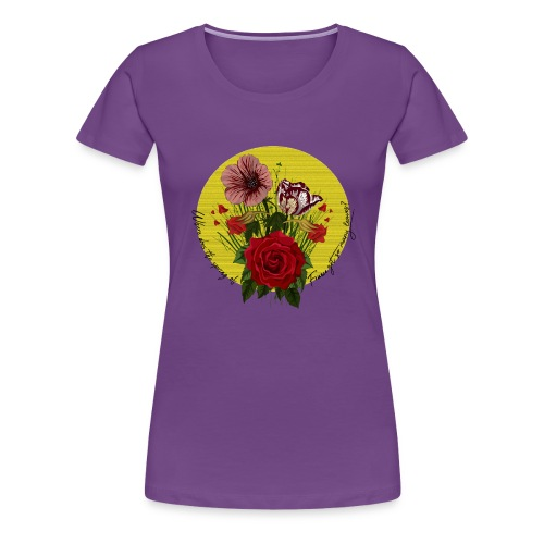 France's flowers design - Camiseta premium mujer