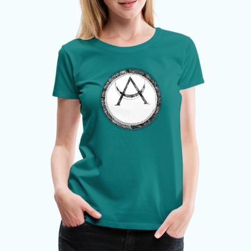 Mystic motif with sun and circle geometric - Women's Premium T-Shirt