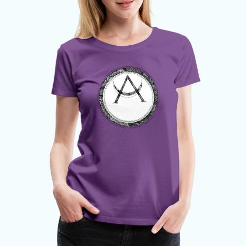 Mystic motif with sun and circle geometric - Women's Premium T-Shirt