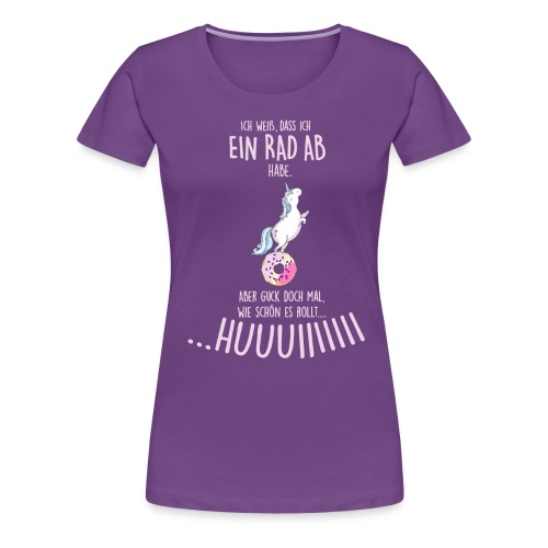 Vorschau: rad ab_einhorn - Frauen Premium T-Shirt