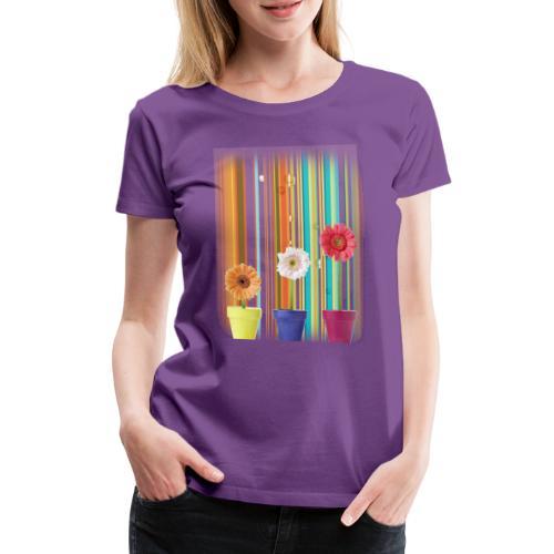 summer flowers - Frauen Premium T-Shirt