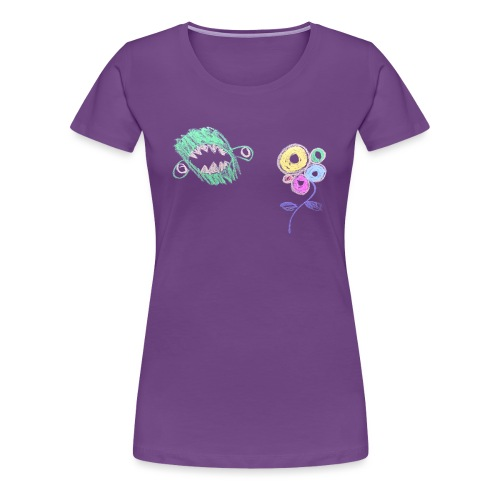 i-hate-flowers - Vrouwen Premium T-shirt