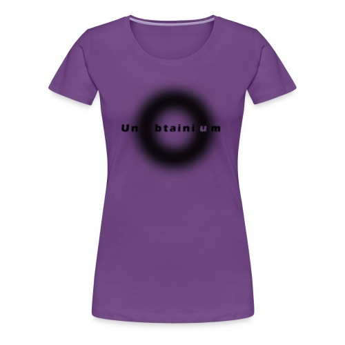 Unobtainium Cricle Logo Black - Frauen Premium T-Shirt