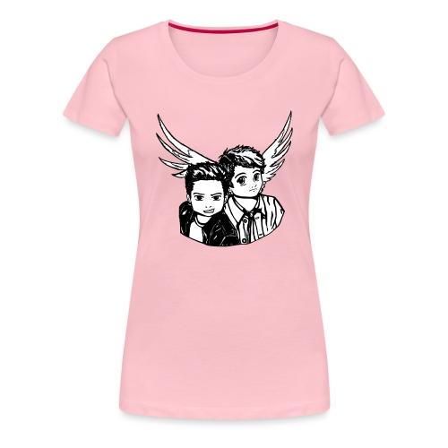 Destiel i sort/hvid - Dame premium T-shirt