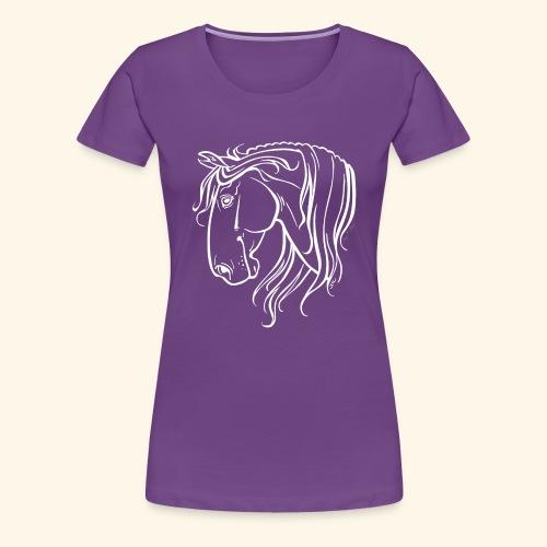 Cheval espagnol (blanc) - T-shirt Premium Femme