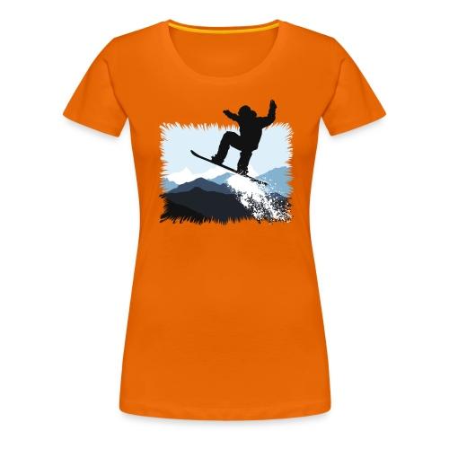 Snowboarder Action Jump | Apresski Shirt gestalten - Frauen Premium T-Shirt
