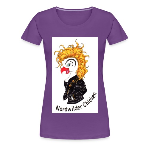 Chicken Logo - Frauen Premium T-Shirt