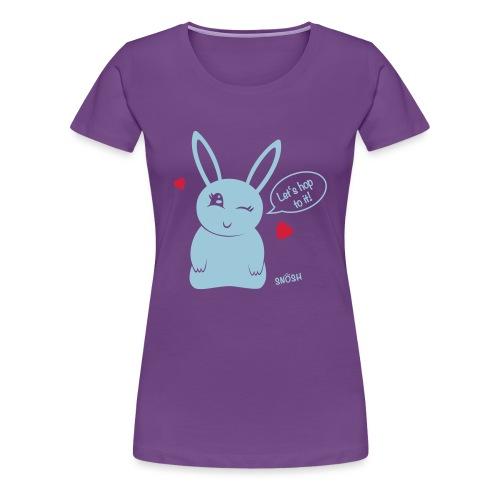 Bunny heart blue - Women's Premium T-Shirt