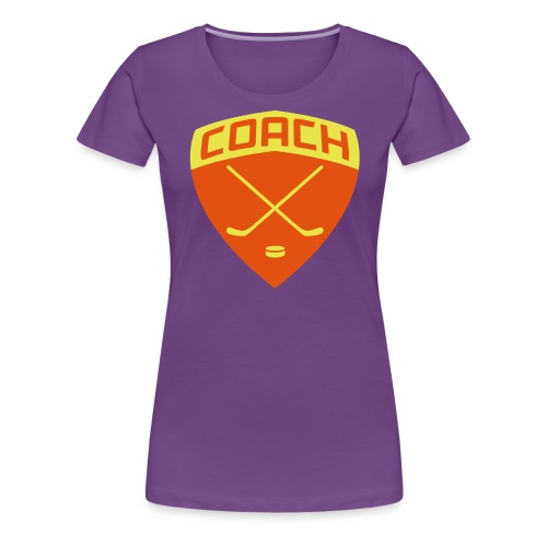 ice-hockey-coach-blue_vec - Women's Premium T-Shirt