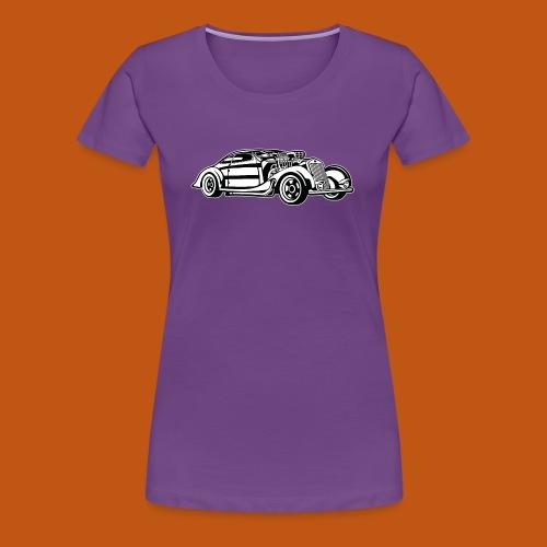 Hot Rod / Rad Rod 05_schwarz weiß - Frauen Premium T-Shirt