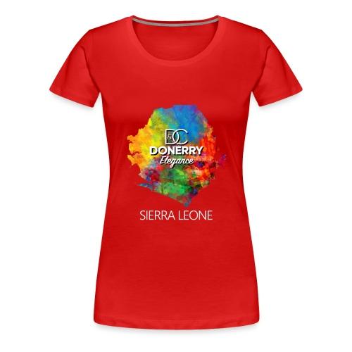 Sierra Leone Colourful Map Dark - Women's Premium T-Shirt