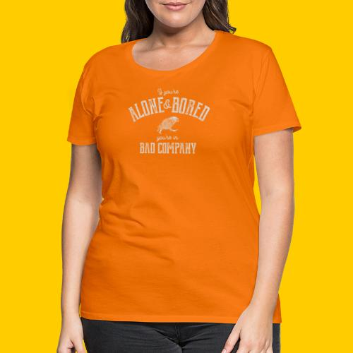 Alone and bored - Premium-T-shirt dam