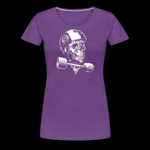 Skull Longboard Rider - negative print - T-shirt Premium Femme