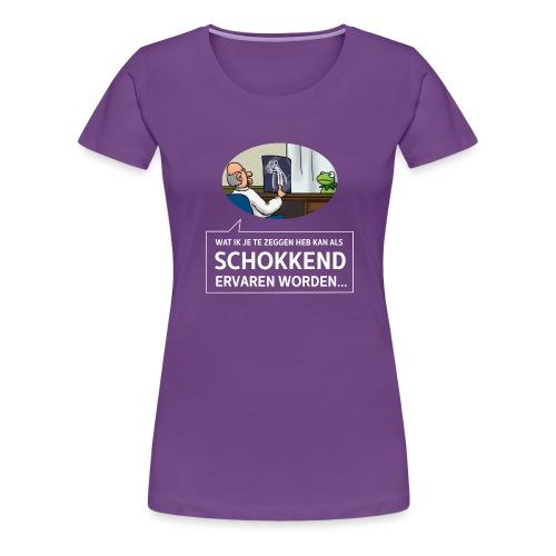 kermit at the doctor - Vrouwen Premium T-shirt