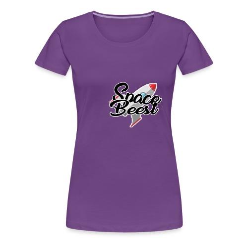Logo, SpaceBeest - Vrouwen Premium T-shirt