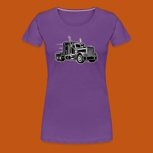 Truck / Lkw 03_schwarz weiß - Frauen Premium T-Shirt