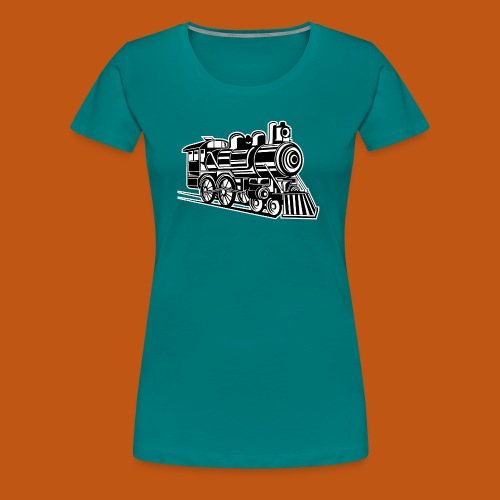 Lokomotive / Locomotive 01_schwarz weiß - Frauen Premium T-Shirt