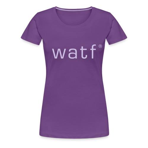 watfoutlines - Women's Premium T-Shirt