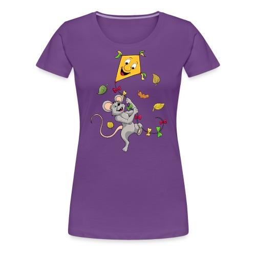 Maus mit Drachen im Herbst - Frauen Premium T-Shirt