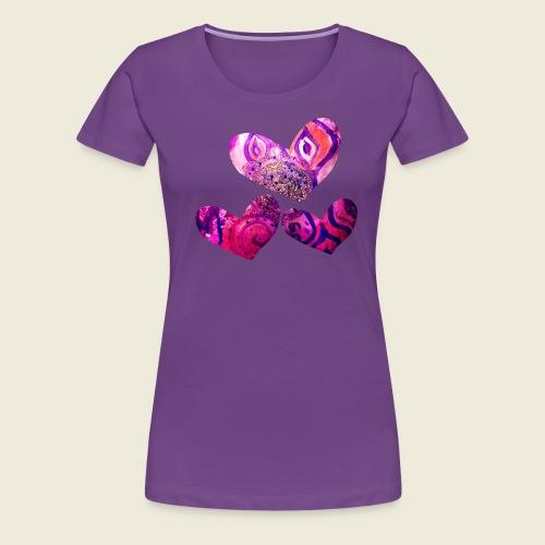 Traumhafte Herzen in pink - Frauen Premium T-Shirt