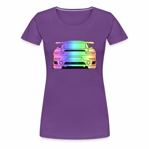 cool car rear colourful - Women's Premium T-Shirt