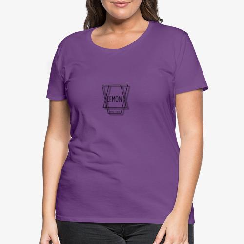 Minimalist Lemon Logo Without background - Premium-T-shirt dam
