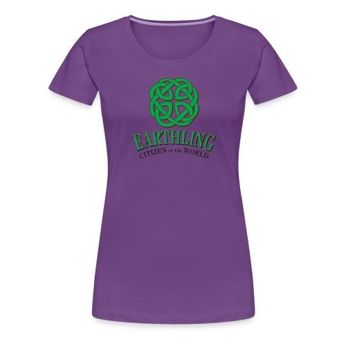 Earthling - Citizen of the World - Premium-T-shirt dam