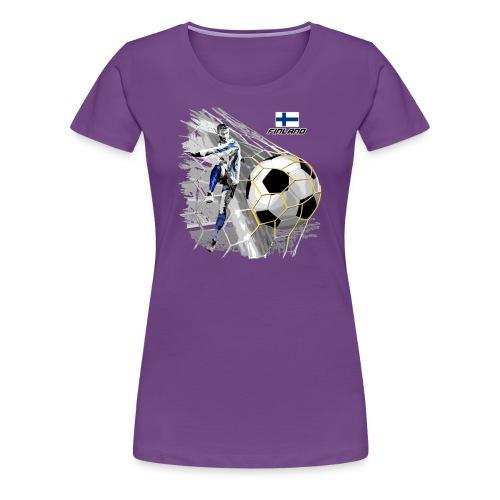 FINLAND FOOTBALL SOCCER PLAY T SHIRTS, GIFTS etc. - Naisten premium t-paita