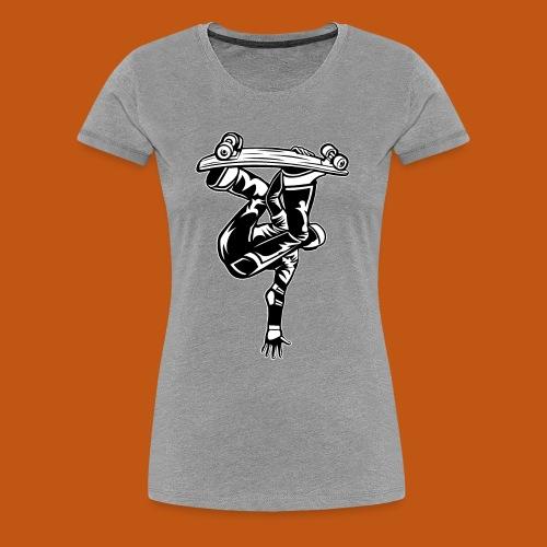Skater / Skateboarder 03_schwarz weiß - Frauen Premium T-Shirt