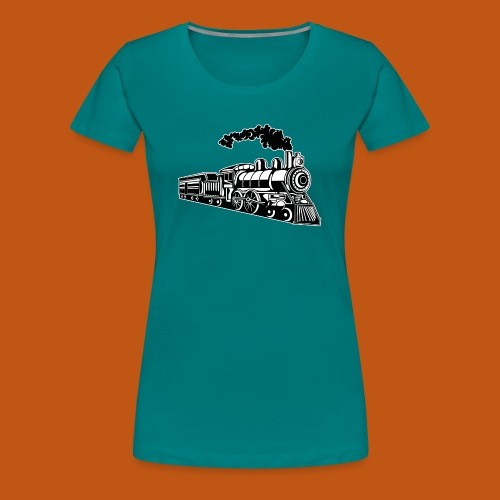 Lokomotive / Locomotive 02_schwarz weiß - Frauen Premium T-Shirt