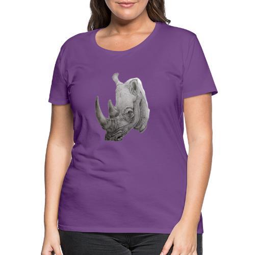 rhino - Dame premium T-shirt