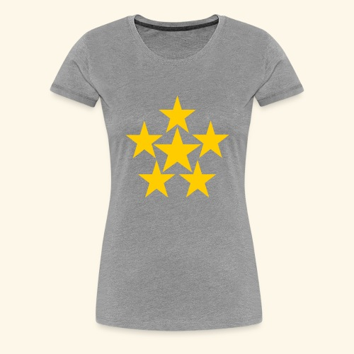 5 STERN gelb - Frauen Premium T-Shirt