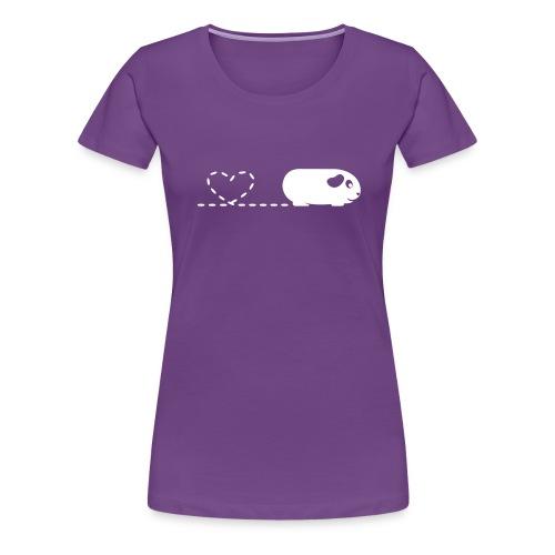 Pooping Heart Guinea Pig - Women's Premium T-Shirt