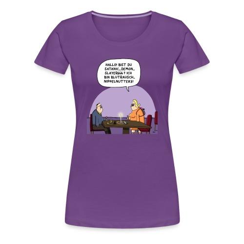 Nippelnutte vs. Demonslayer - Frauen Premium T-Shirt