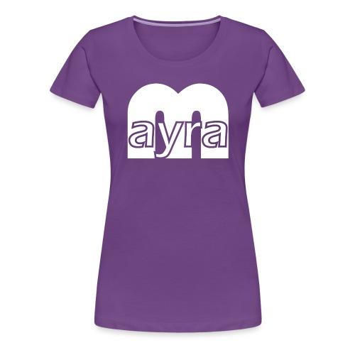 Mayra Logo 2 weiß - Frauen Premium T-Shirt