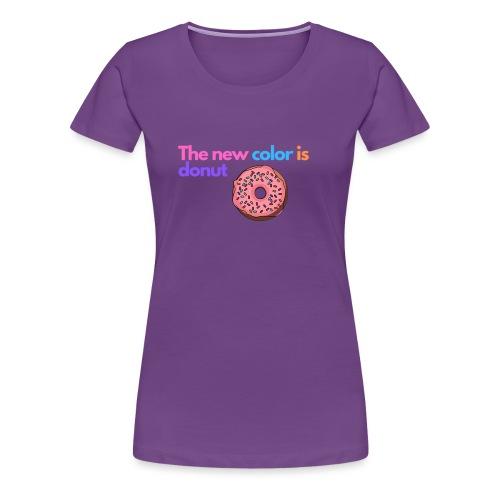 Donut color - Women's Premium T-Shirt