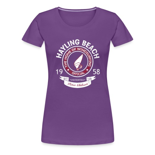 Hayling Beach Mens Retro Tee - Women's Premium T-Shirt
