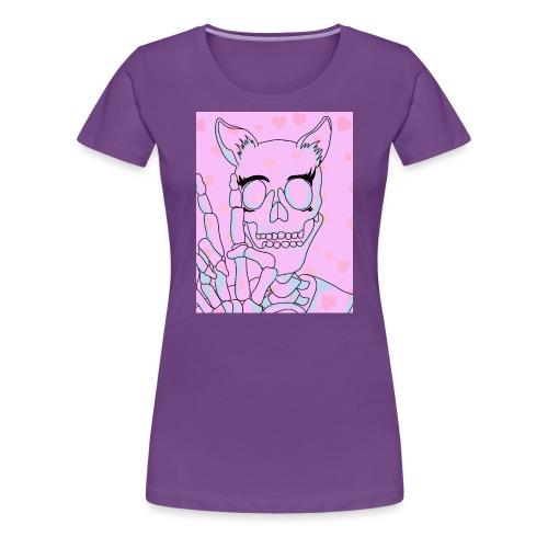 Kawaii Skull - Women's Premium T-Shirt