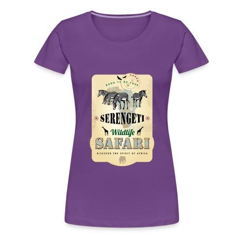 Zebras Wildlife Safari Serengeti Afrika Abenteuer - Women's Premium T-Shirt