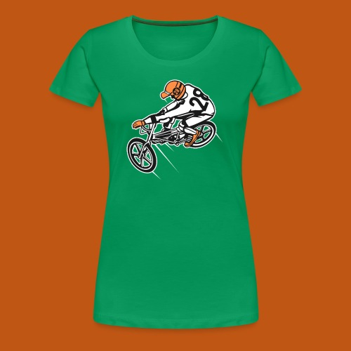 BMX Fahrrad / Bike 01_dreifarbig - Frauen Premium T-Shirt