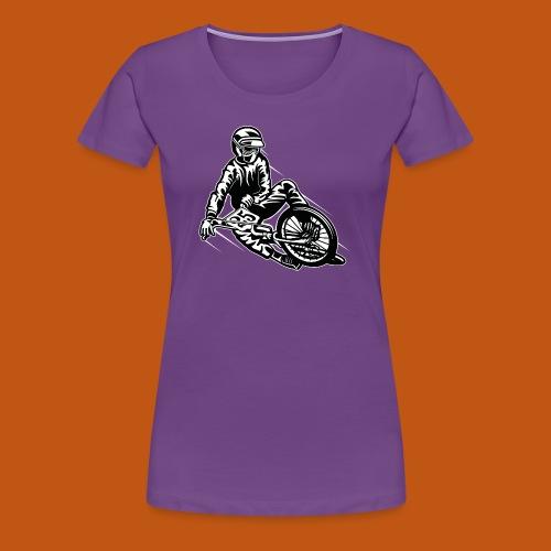 BMX / Mountain Biker 03_schwarz weiß - Frauen Premium T-Shirt