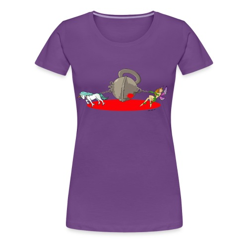 CFMD Halbkugel Comic Farbe - Frauen Premium T-Shirt
