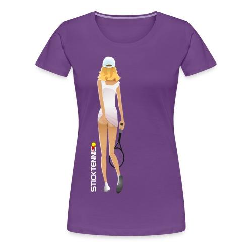 tennis girla - Women's Premium T-Shirt