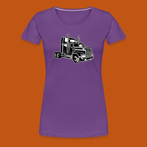 Truck / Lkw 02_schwarz weiß - Frauen Premium T-Shirt