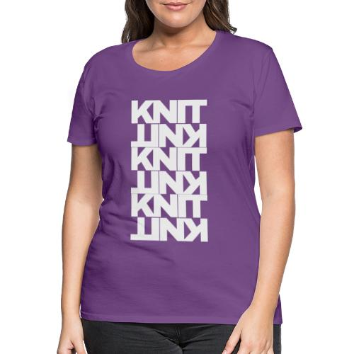 Garter Stitch, light - Women's Premium T-Shirt