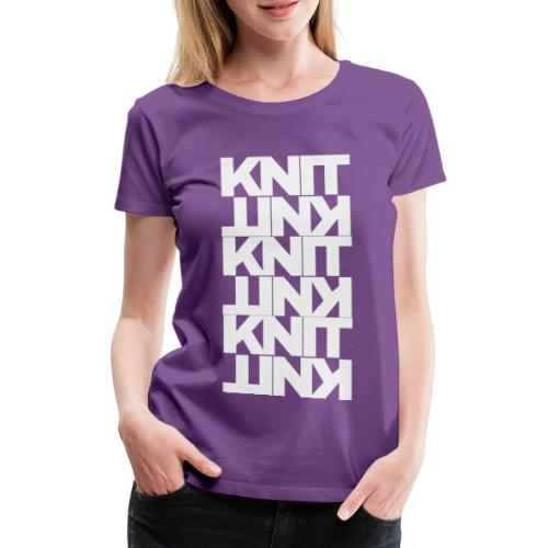 Garter Stitch, light - Women's Premium T-Shirt