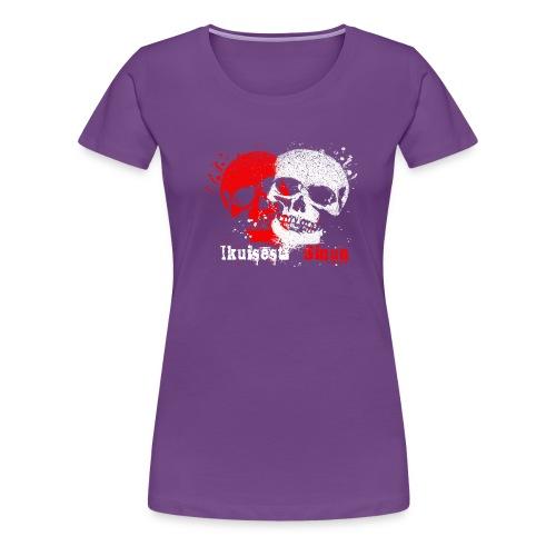 Ikuisesti Sinun, rakastavaiset pääkallotuotteet - Naisten premium t-paita