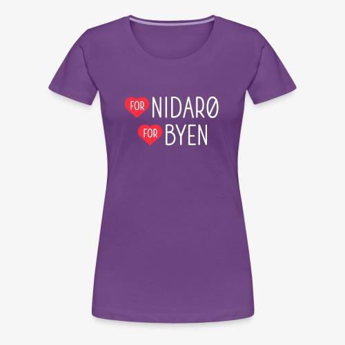 Hjerte for Nidarø - Hjerte for Byen - Premium T-skjorte for kvinner