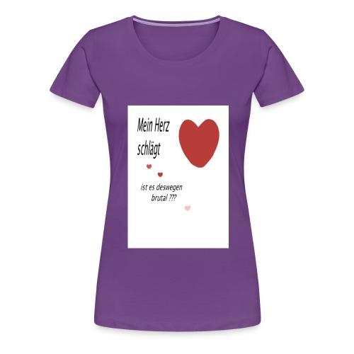 mein_herz schlägt - Frauen Premium T-Shirt